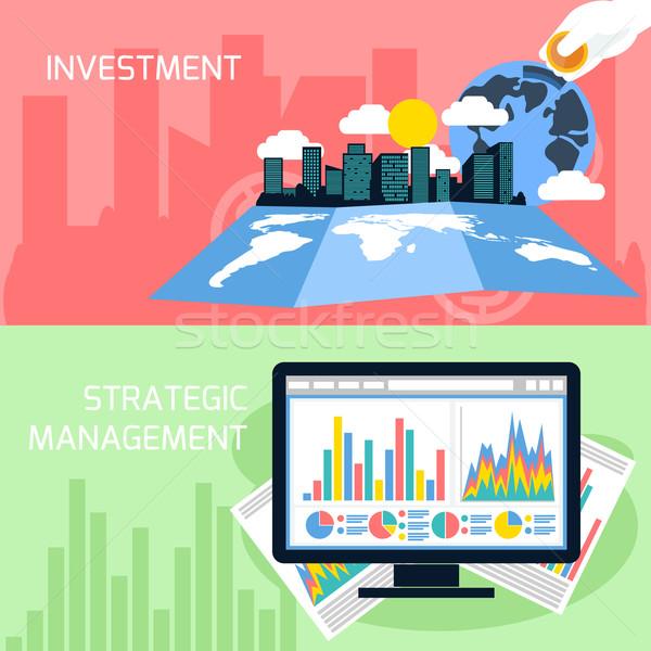 Foto stock: Estratégico · gestão · investimento · projeto · negócio · analítica