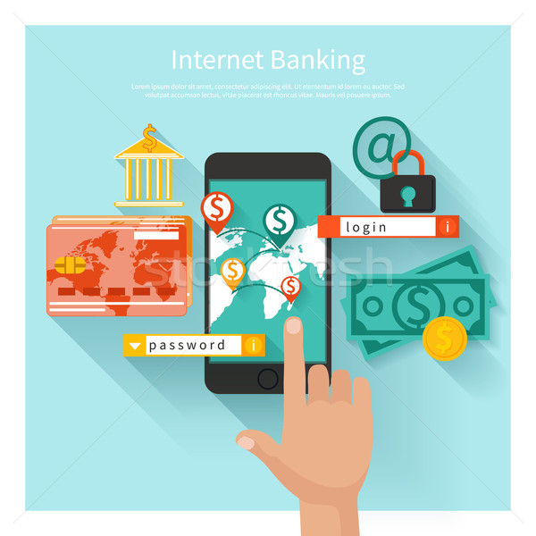 Internet banking and security deposit concept Stock photo © robuart