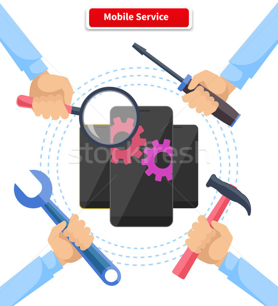 Concept Mobile Service Repair Gadgets Stock photo © robuart