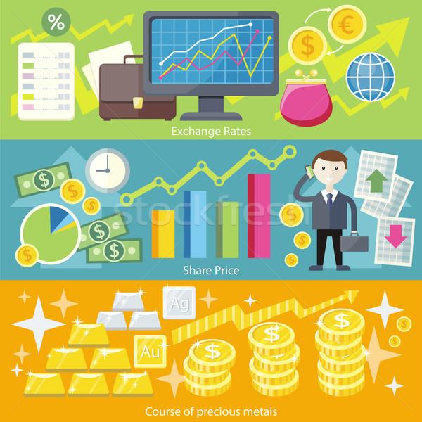 Сток-фото: обмена · дизайна · стиль · Финансы · бизнеса · валюта
