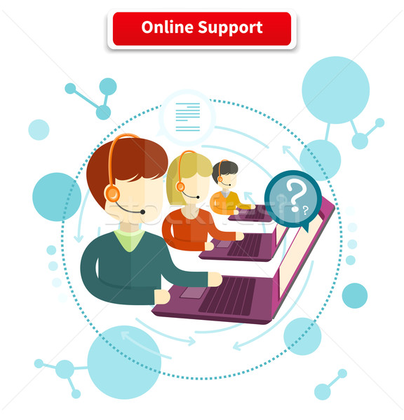 Online Support Concept Stock photo © robuart