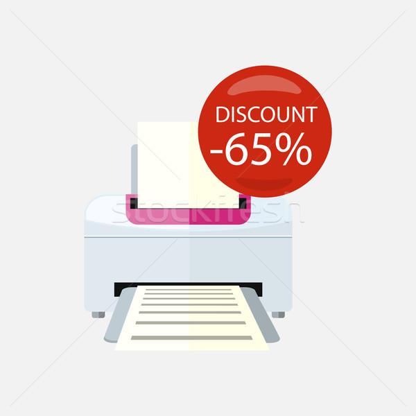 продажи домашнее хозяйство принтер электронных Сток-фото © robuart