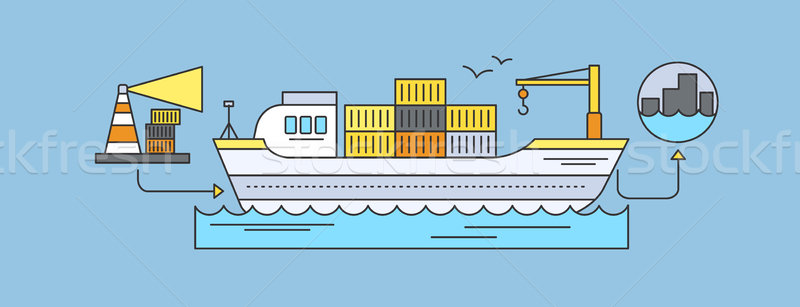 Concept of Freight Forwarding by Sea  Stock photo © robuart