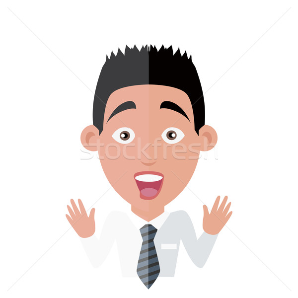 Emotion Avatar Man Surprise Success Stock photo © robuart