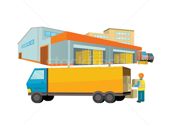 Ddelivery Equipment Warehouse Stock photo © robuart