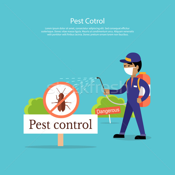 Pest Control Banner Design Flat Stock photo © robuart