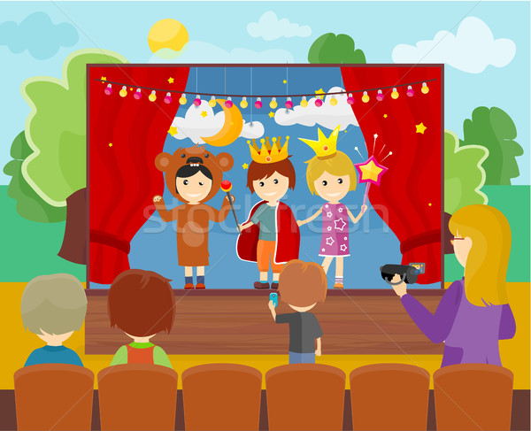 Children in Costumes Performing Theater Stock photo © robuart