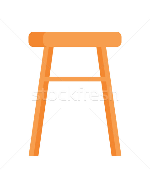 Stool Vector Illustration in Flat Design Stock photo © robuart