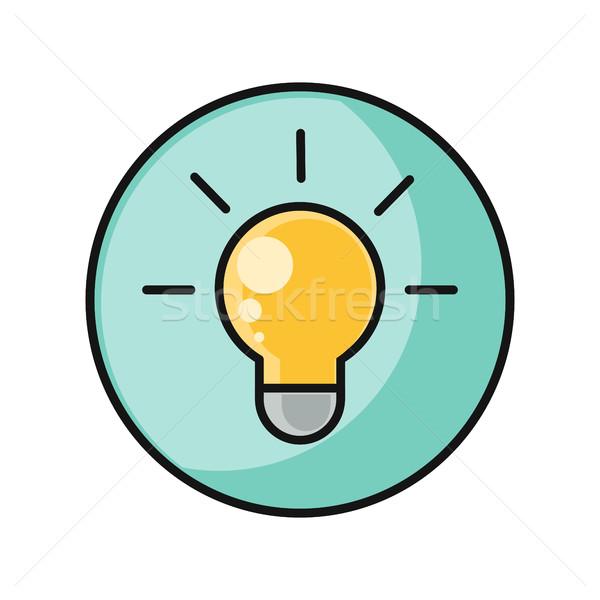 Creative Idea with Light Bulb Shape Stock photo © robuart