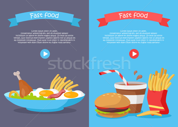Fast Food Conceptual Banner for Web Site Design Stock photo © robuart