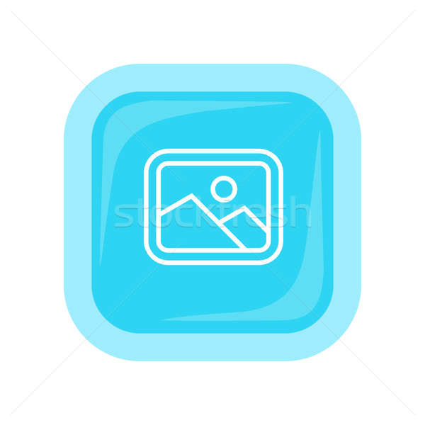 Landscape Vector Icon In Flat Style Design Stock photo © robuart