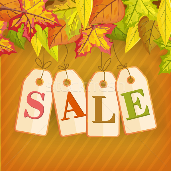 Autumn Sale Vector Concept in Flat Design Stock photo © robuart