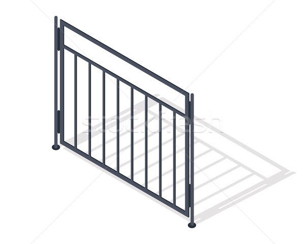 Steel Fence Section Vector In Isometric Projection Stock photo © robuart