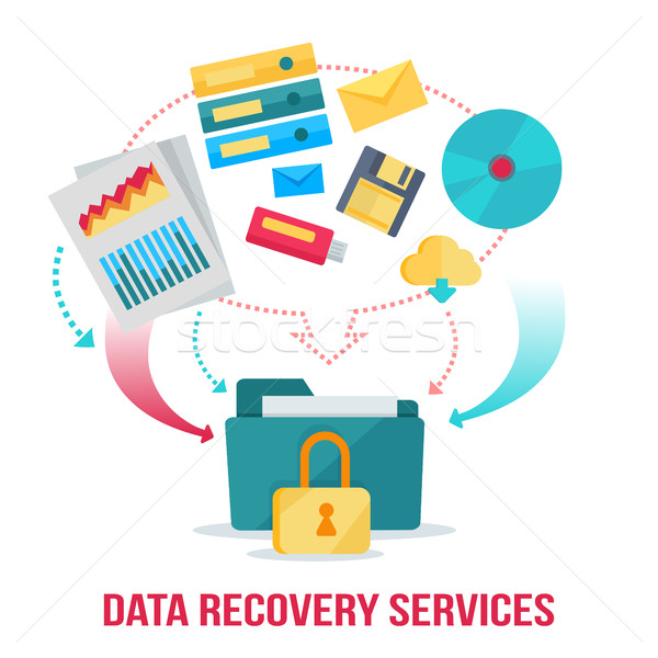 Data Recovery Services Banner Stock photo © robuart