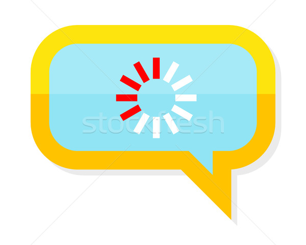 Loading Process Icon in Chat Speech Bubble. Stock photo © robuart