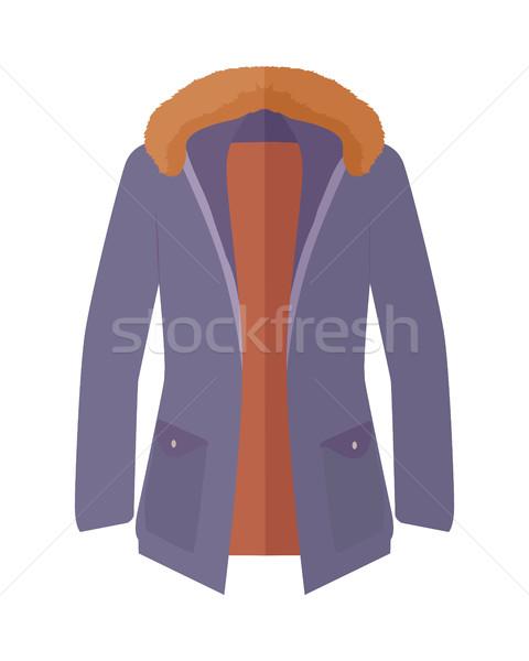 Long Warm Jacket Flat Style Vector Illustration Stock photo © robuart