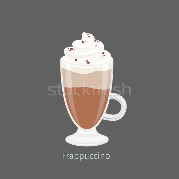 Frapuccino in Irish Glass Mug Flat Vector Stock photo © robuart