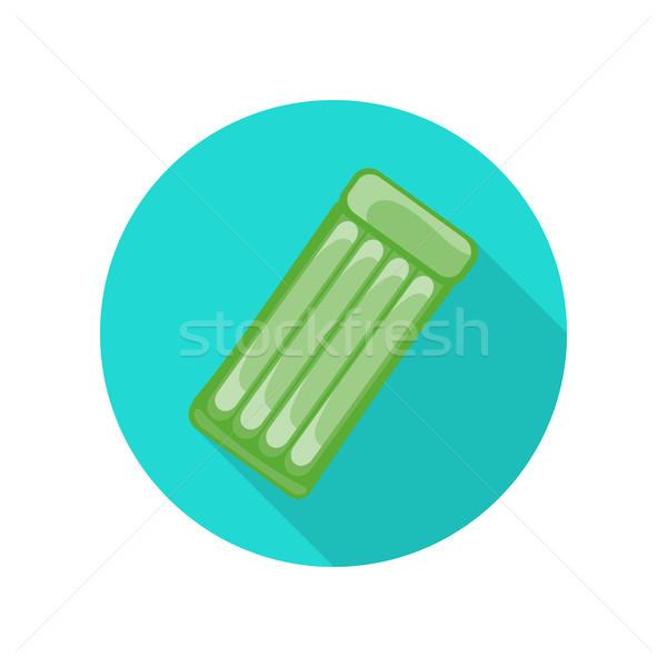 Natation matelas vecteur style design vert Photo stock © robuart