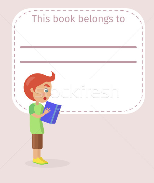 Book Cover with Place for Signing Illustration Stock photo © robuart
