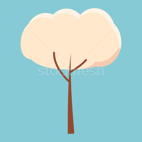 Cartoon Spring Tree with White Crown Illustration Stock photo © robuart