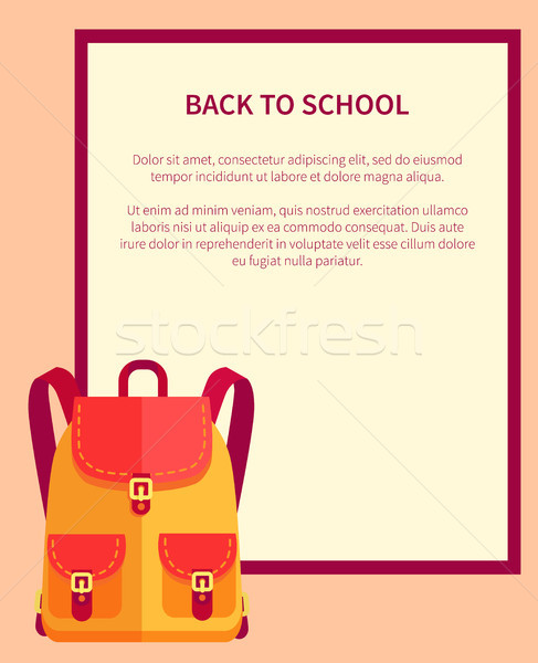 Back to School Banner with Place for Text Backpack Stock photo © robuart