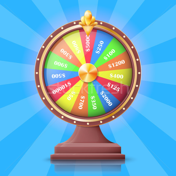 Colorful Wheel of Fortune with Money Prizes Slots Stock photo © robuart