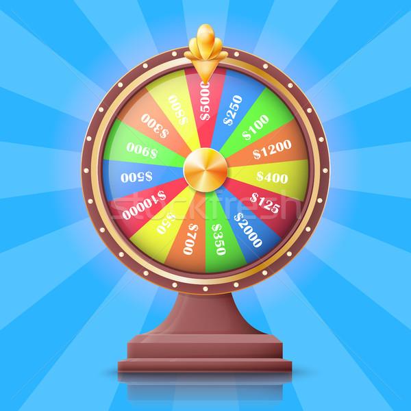 красочный колесо деньги изолированный Cartoon полосатый Сток-фото © robuart