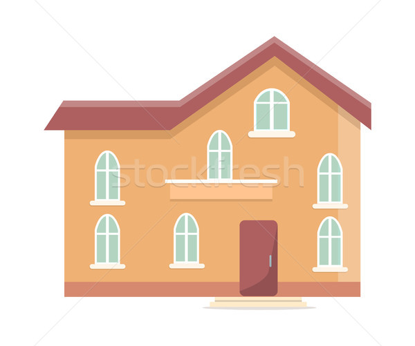 Three Storey Building with Oval Windows and Door Stock photo © robuart