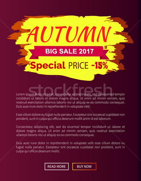 Speciaal prijs najaar verkoop 15 advertentie Stockfoto © robuart