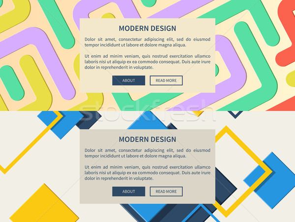 Modern Design Web Pages Set Vector Illustration Stock photo © robuart