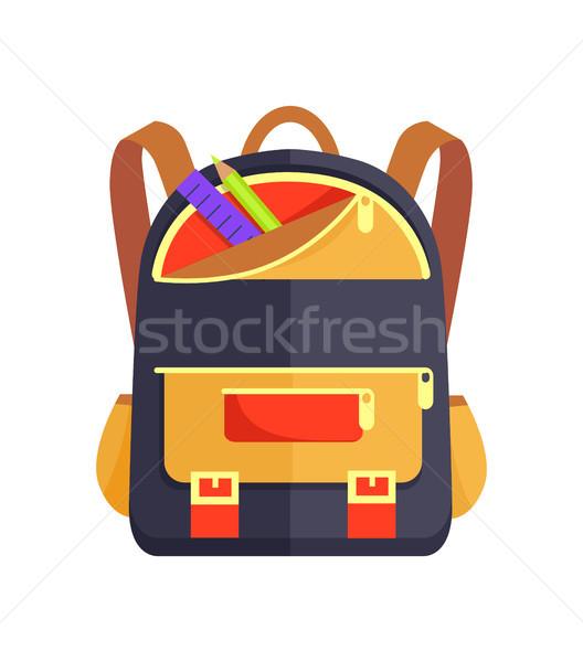 Mochila criança escolas artigos de papelaria criança Foto stock © robuart