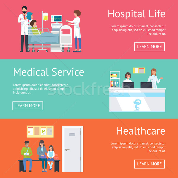 Hospital Life, Medical Service and Healthcare Stock photo © robuart