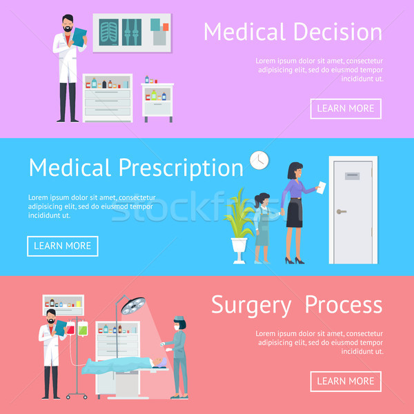 Medical Decision, Prescription and Surgery Process Stock photo © robuart