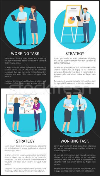 Strateji çalışma görev ayarlamak renk ofis Stok fotoğraf © robuart