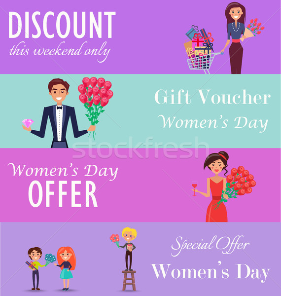 Concept of Special Offer, Discount on Womens Day Stock photo © robuart