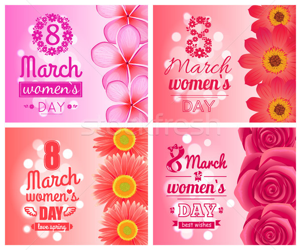 Posters on International Women Day Holiday 8 March Stock photo © robuart