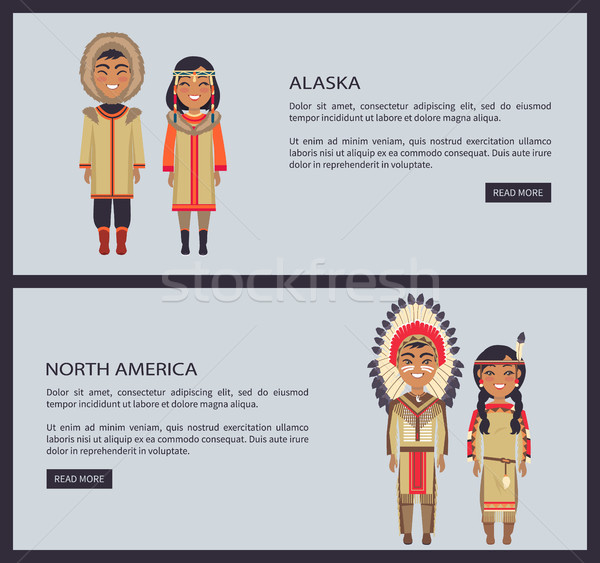 Alaska and North America Web Vector Illustration Stock photo © robuart