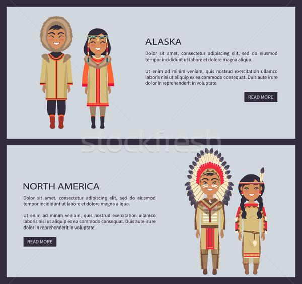 Alaszka észak Amerika háló szett internet Stock fotó © robuart