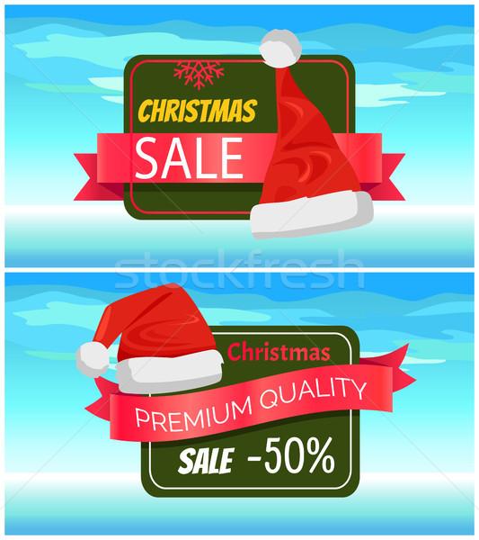 Premium Quality Half Price Christmas Sale Posters Stock photo © robuart