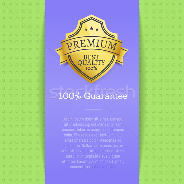 Premium Quality Best Golden Label 100 Guarantee Stock photo © robuart
