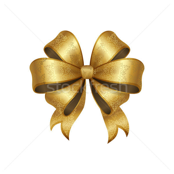 Altın yay düğüm beş döngü dekoratif Stok fotoğraf © robuart