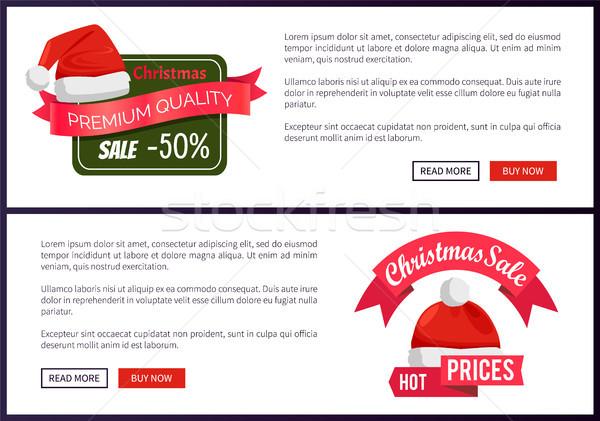 Noel baba promo etiketler noel Stok fotoğraf © robuart