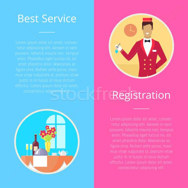 Registration for Best Service Vector Illustration Stock photo © robuart