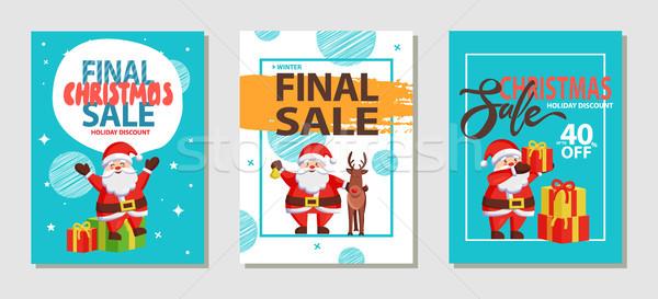 Сток-фото: окончательный · Рождества · продажи · праздник · скидка · набор