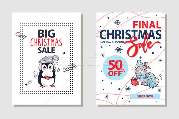 Final Christmas Sale Banner on Vector Illustration Stock photo © robuart