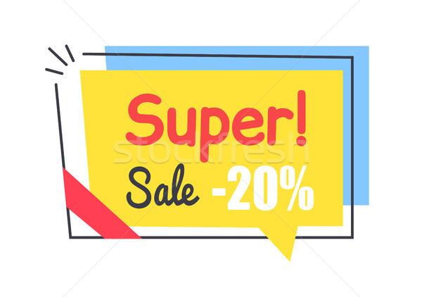 Super verkoop promo sticker vierkante vorm Stockfoto © robuart
