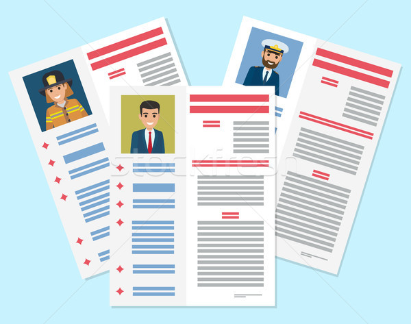 Career information leaflet flat vector concept Stock photo © robuart