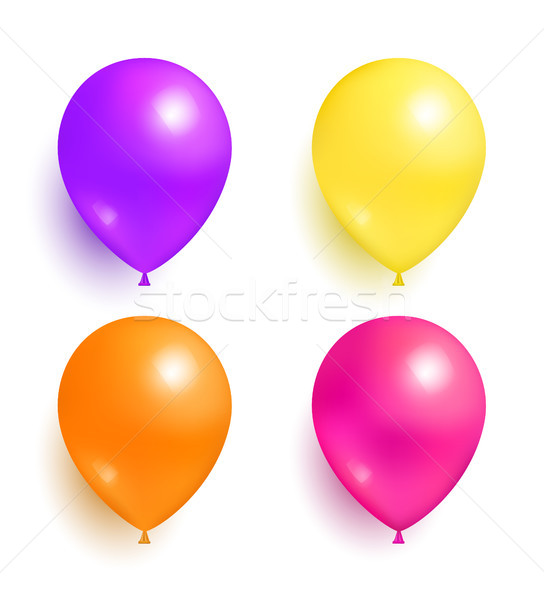 Helium Inflatable Colorful Balloons for Decoration Stock photo © robuart