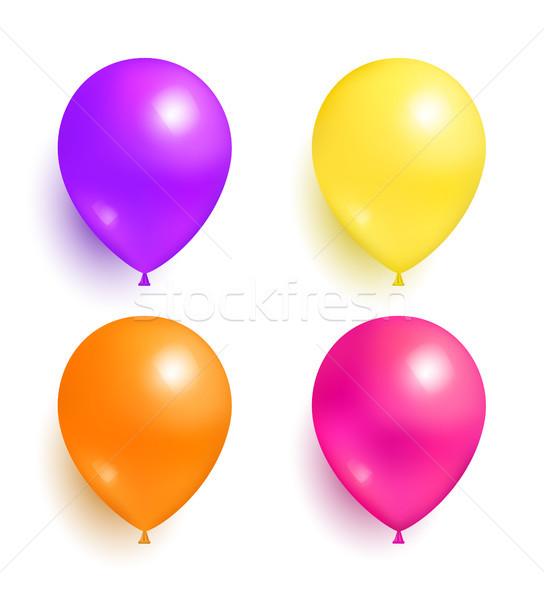 Hélium felfújható színes léggömbök dekoráció díszítések Stock fotó © robuart
