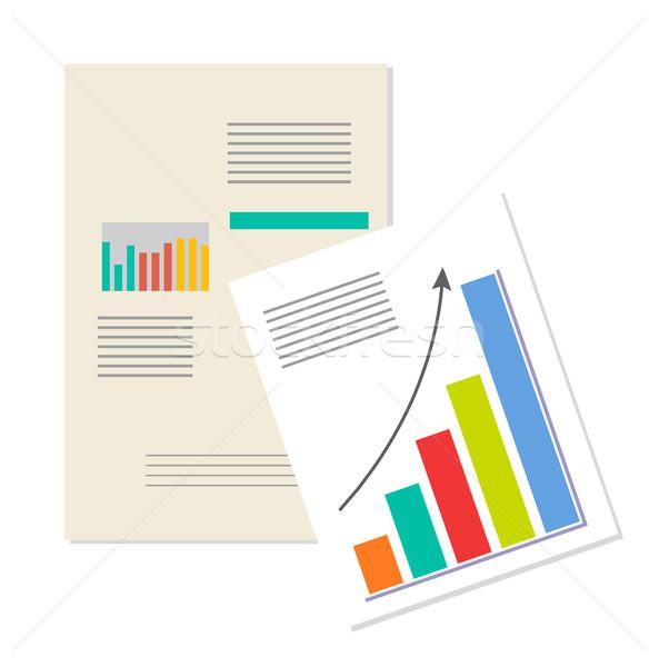 информации бизнеса аналитика баннер растущий Сток-фото © robuart